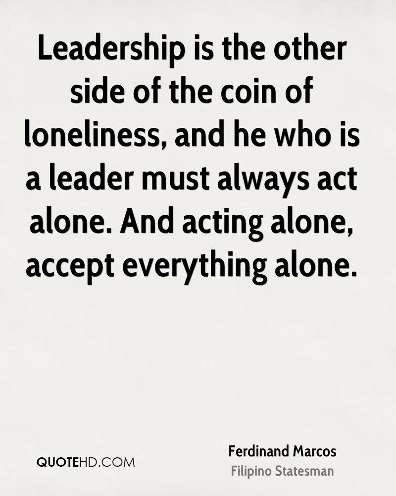 Quotes On Leadership Ferdinand Marcos Leadership Quotes  Quotehd
