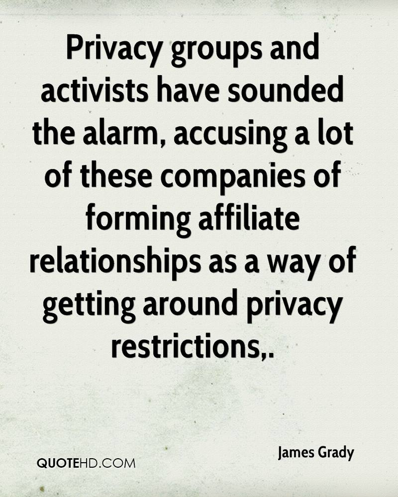 Privacy groups and activists have sounded the alarm, accusing a lot of these companies of forming affiliate relationships as a way of getting around privacy restrictions.