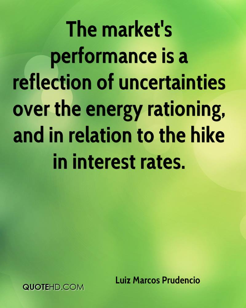 The market's performance is a reflection of uncertainties over the energy rationing, and in relation to the hike in interest rates.