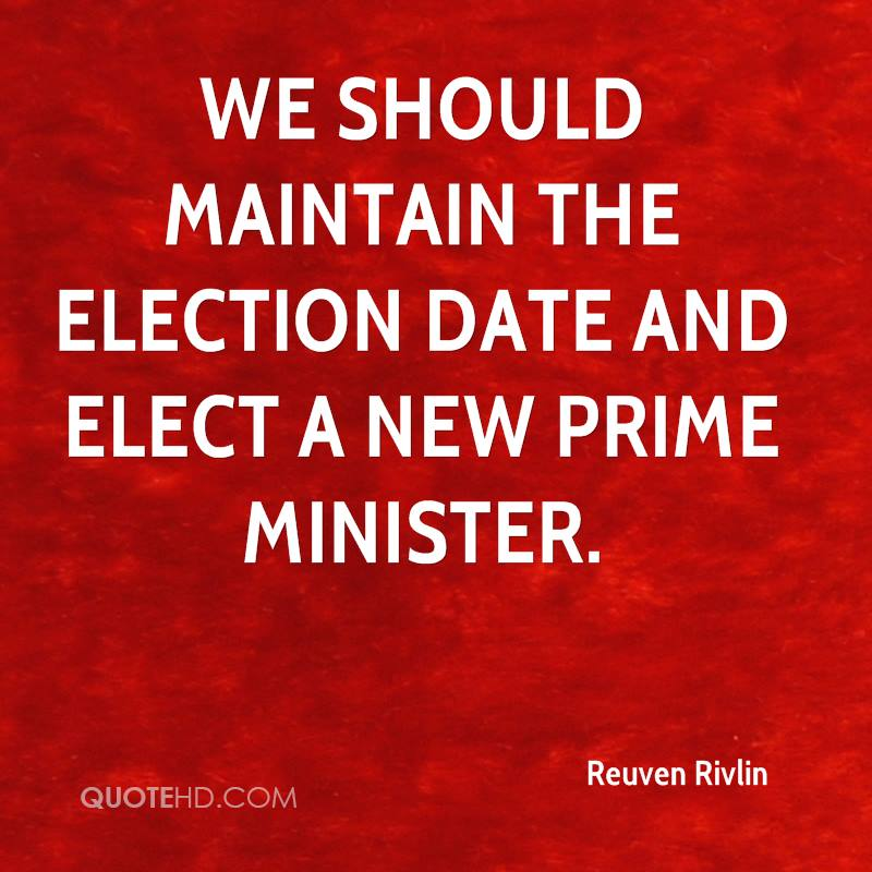 We should maintain the election date and elect a new prime minister.