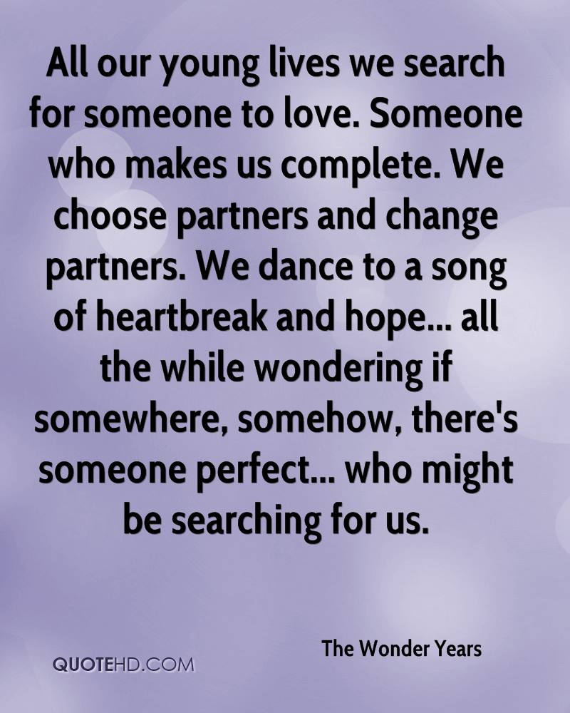 Search Love Quotes The Wonder Years Quotes  Quotehd