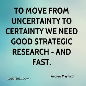 Andrew Maynard - To move from uncertainty to certainty we need good strategic research - and fast.