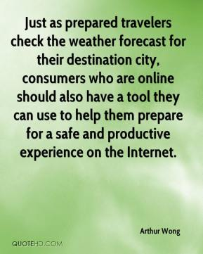 Just as prepared travelers check the weather forecast for their destination city, consumers who are online should also have a tool they can use to help them prepare for a safe and productive experience on the Internet.