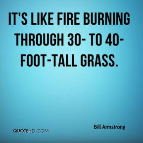 Bill Armstrong - It's like fire burning through 30- to 40-foot-tall grass.