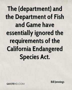 Endangered quotes page 2 quotehd for Department of fish and game california