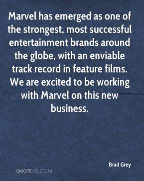 Marvel has emerged as one of the strongest, most successful entertainment brands around the globe, with an enviable track record in feature films. We are excited to be working with Marvel on this new business.