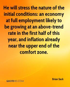 Brian Sack - He will stress the nature of the initial conditions: an economy at full employment likely to be growing at an above-trend rate in the first half of this year, and inflation already near the upper end of the comfort zone.
