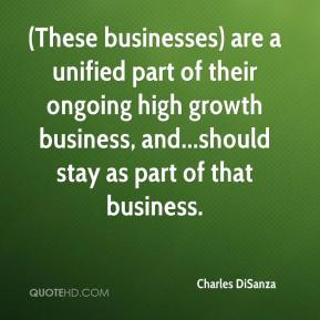 (These businesses) are a unified part of their ongoing high growth business, and...should stay as part of that business.