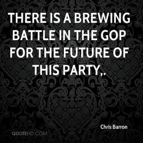 There is a brewing battle in the GOP for the future of this party.