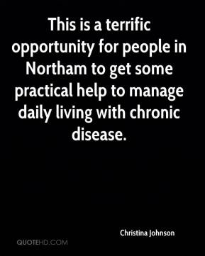 Christina Johnson - This is a terrific opportunity for people in Northam to get some practical help to manage daily living with chronic disease.