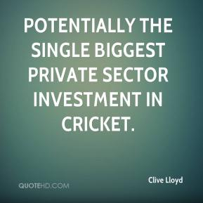 potentially the single biggest private sector investment in cricket.