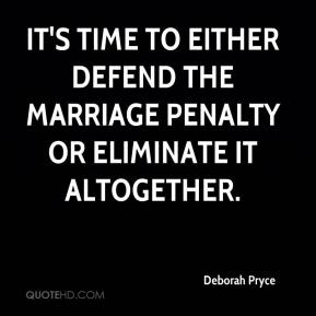 It's time to either defend the marriage penalty or eliminate it altogether.
