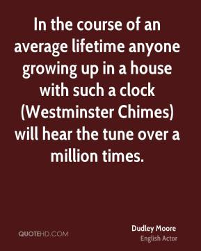 In the course of an average lifetime anyone growing up in a house with such a clock (Westminster Chimes) will hear the tune over a million times.