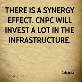 Gideon Lo - There is a synergy effect. CNPC will invest a lot in the infrastructure.
