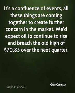 Greg Canavan - It's a confluence of events, all these things are coming together to create further concern in the market. We'd expect oil to continue to rise and breach the old high of $70.85 over the next quarter.