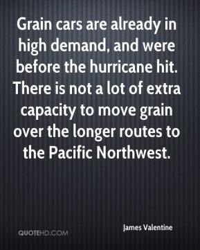 Grain cars are already in high demand, and were before the hurricane hit. There is not a lot of extra capacity to move grain over the longer routes to the Pacific Northwest.