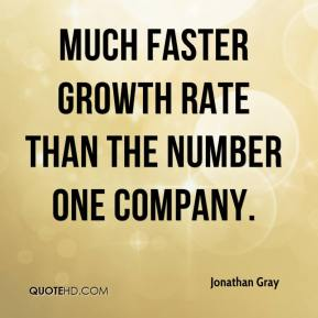 Jonathan Gray  - much faster growth rate than the number one company.