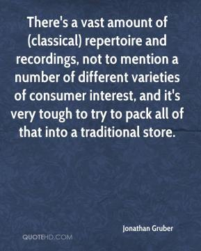 There's a vast amount of (classical) repertoire and recordings, not to mention a number of different varieties of consumer interest, and it's very tough to try to pack all of that into a traditional store.