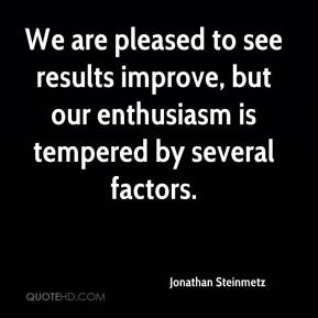 We are pleased to see results improve, but our enthusiasm is tempered by several factors.