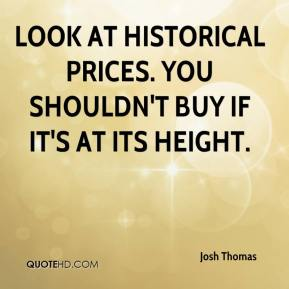 Look at historical prices. You shouldn't buy if it's at its height.