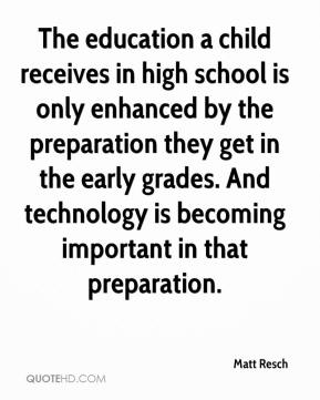 The education a child receives in high school is only enhanced by the preparation they get in the early grades. And technology is becoming important in that preparation.