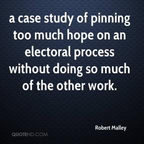 a case study of pinning too much hope on an electoral process without doing so much of the other work.