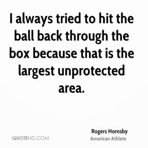 I always tried to hit the ball back through the box because that is the largest unprotected area.