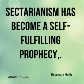 Rosemary Hollis  - Sectarianism has become a self-fulfilling prophecy.