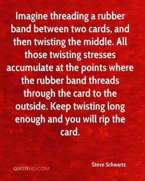Steve Schwartz  - Imagine threading a rubber band between two cards, and then twisting the middle. All those twisting stresses accumulate at the points where the rubber band threads through the card to the outside. Keep twisting long enough and you will rip the card.