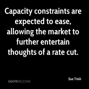 Sue Trinh  - Capacity constraints are expected to ease, allowing the market to further entertain thoughts of a rate cut.