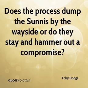 Does the process dump the Sunnis by the wayside or do they stay and hammer out a compromise?