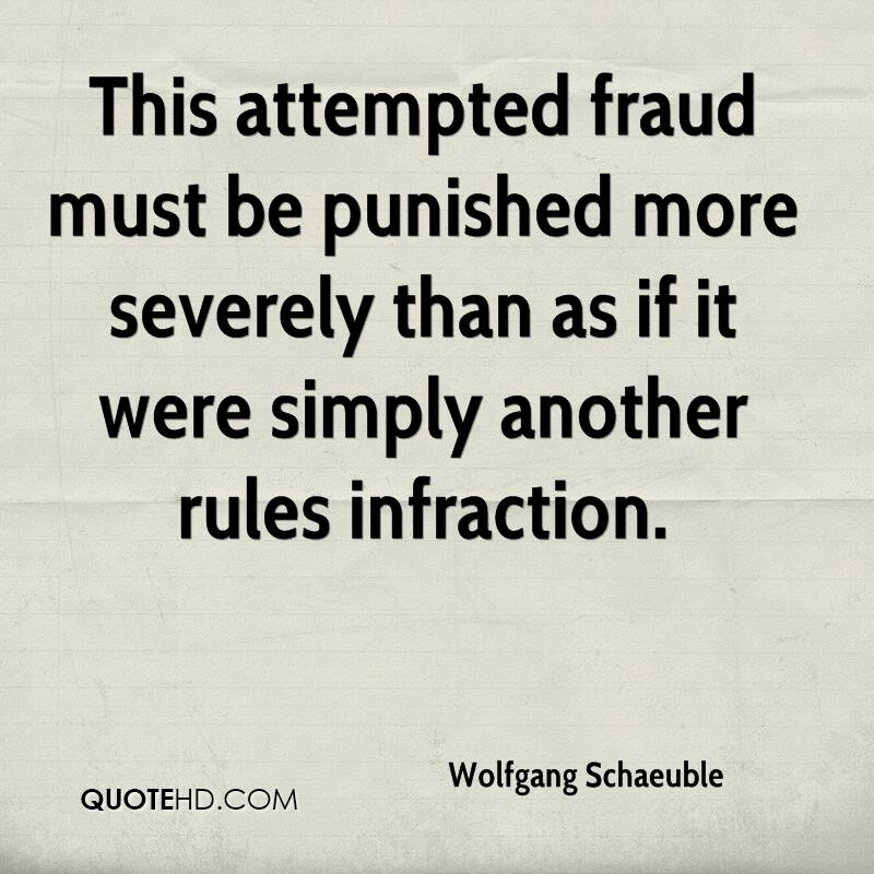 This attempted fraud must be punished more severely than as if it were simply another rules infraction.