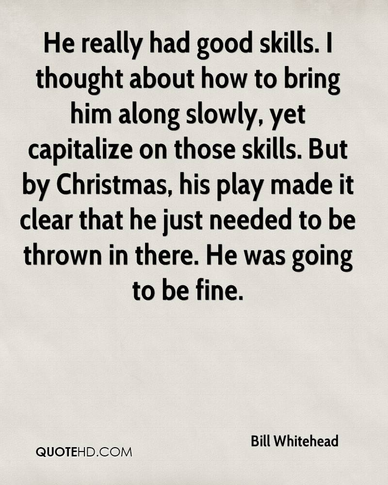 Bill Whitehead Christmas Quotes | QuoteHD