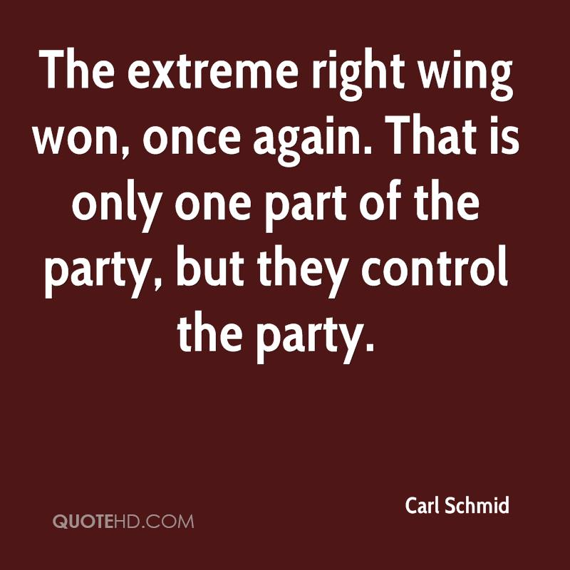 The extreme right wing won, once again. That is only one part of the party, but they control the party.
