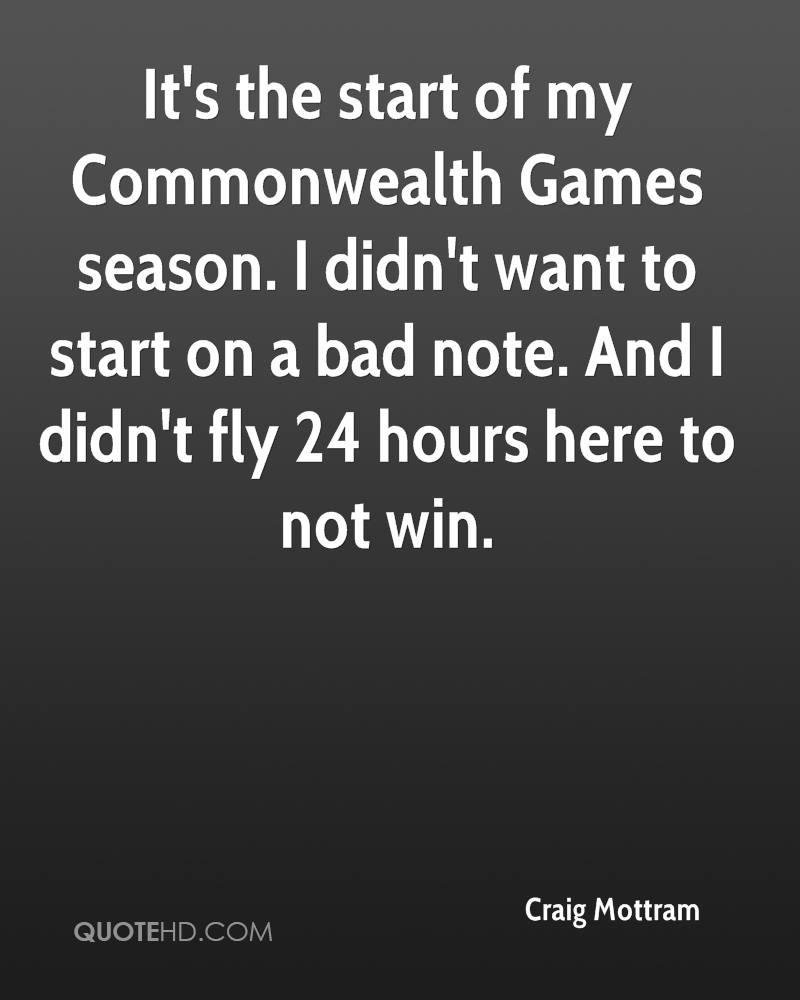 It's the start of my Commonwealth Games season. I didn't want to start on a bad note. And I didn't fly 24 hours here to not win.