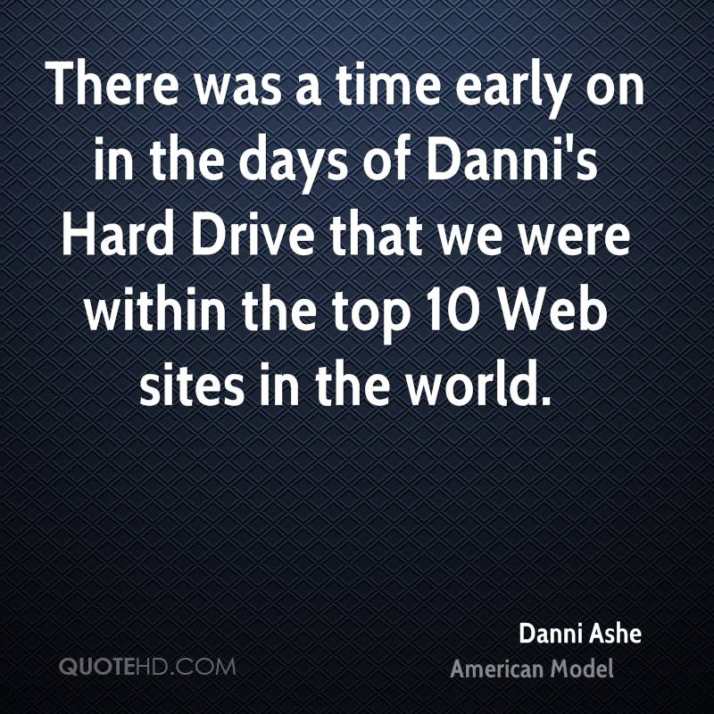There was a time early on in the days of Danni's Hard Drive that we were within the top 10 Web sites in the world.