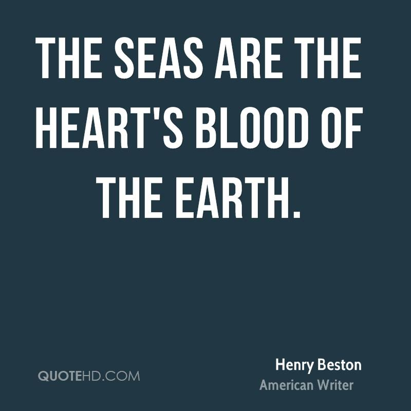 The seas are the heart's blood of the earth.