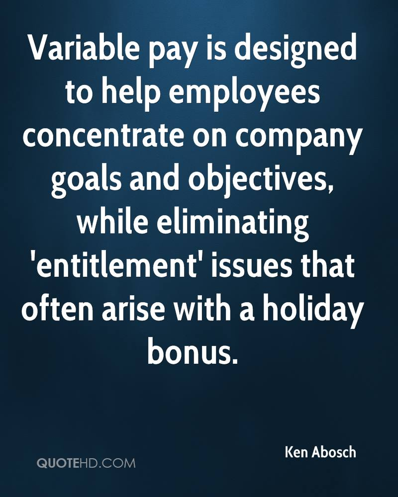 Holiday Entilement: Ken Abosch Quotes