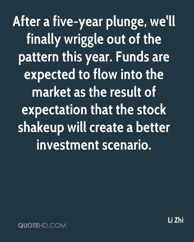 After a five-year plunge, we'll finally wriggle out of the pattern this year. Funds are expected to flow into the market as the result of expectation that the stock shakeup will create a better investment scenario.