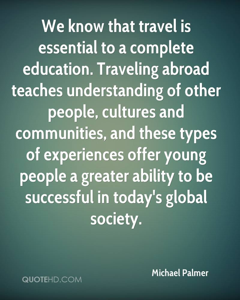 Travelling education's long road