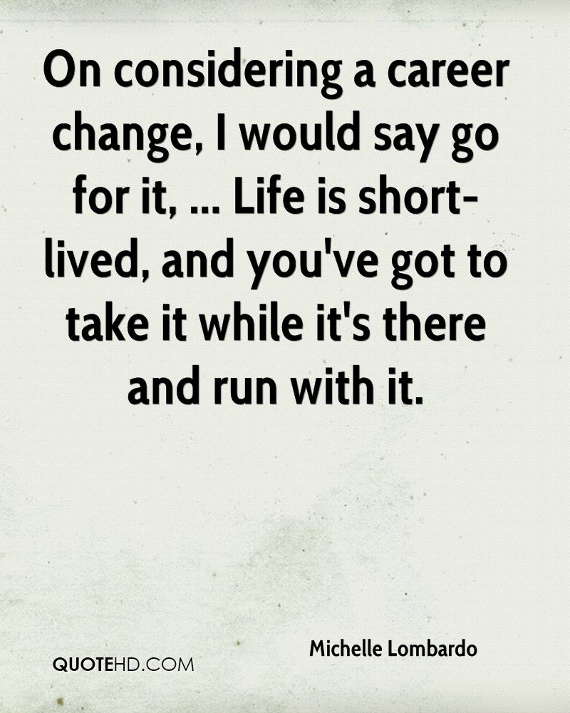 Life Quotes Careers: Michelle Lombardo Life Quotes