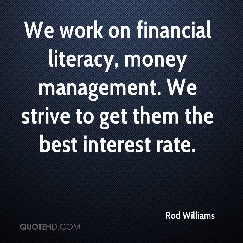 Financial Quotes Stunning Rod Williams Quotes  Quotehd