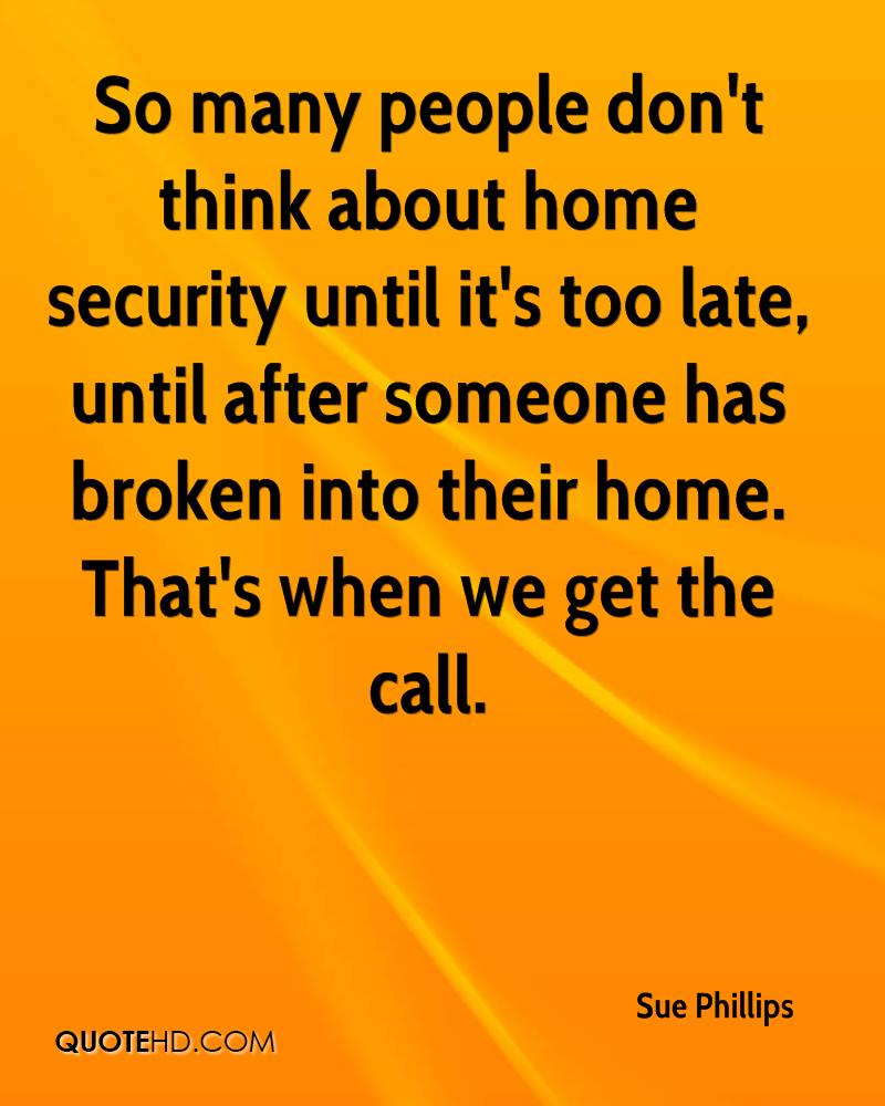 Quotes About Security Sue Phillips Quotes  Quotehd