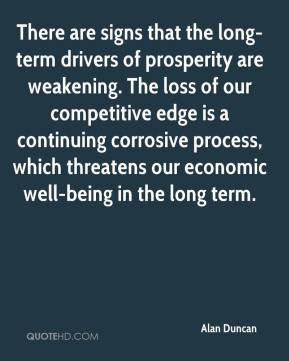Alan Duncan - There are signs that the long-term drivers of prosperity are weakening. The loss of our competitive edge is a continuing corrosive process, which threatens our economic well-being in the long term.