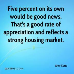 Amy Cutts - Five percent on its own would be good news. That's a good rate of appreciation and reflects a strong housing market.