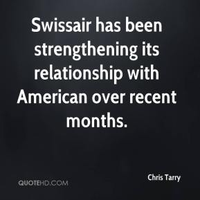 Chris Tarry - Swissair has been strengthening its relationship with American over recent months.