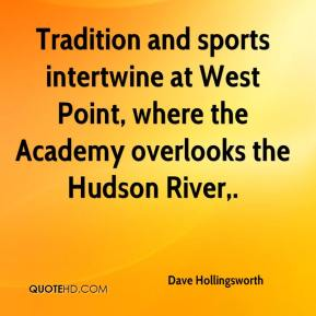 Dave Hollingsworth - Tradition and sports intertwine at West Point, where the Academy overlooks the Hudson River.