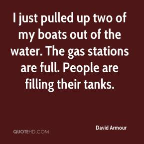 I just pulled up two of my boats out of the water. The gas stations are full. People are filling their tanks.