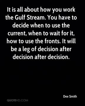 It is all about how you work the Gulf Stream. You have to decide when to use the current, when to wait for it, how to use the fronts. It will be a leg of decision after decision after decision.