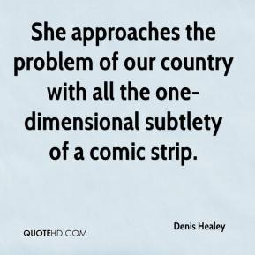 She approaches the problem of our country with all the one-dimensional subtlety of a comic strip.